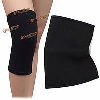 Черный спортивный поддержка сжатия нога коленного бандажа накладка рукав застежка-молния