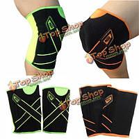 Наколенники спорт колено рукав протектор скобка накладка двойная пружина давления охранник ремень