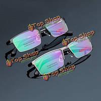 Металл половина оправы очки для чтения близоруким очки кадр