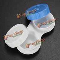 Малая рамка пластик белый синий контактных линз хранения замачивания случаях