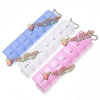 7 сетка для таблеток на неделю ящик органайзер съемный футляр для хранения