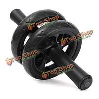 ABS талия брюшной упражнения колеса ролика фитнес силовой тренировки тренажерный зал черного тела формирователь оборудование