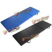 120см * 240см * 5см Yoga коврик складной гимнастики тренировки гимнастики коврики растяжку черный синий