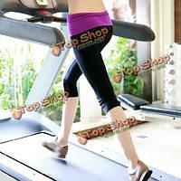 Athleisure йога фитнес работает спортивная аэробика трусы обрезанные брюки носить одежду костюм