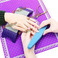 Искусства ногтя подлокотника подушки подушки держатель кружева набор коврик набор для маникюра уход