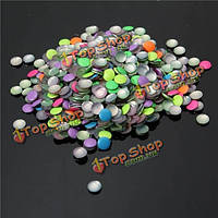 1000шт флуоресцентные красочные милые украшения ногтей стразы смешанный цвет