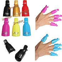 5шт/комплект пластик искусства ногтя впитать от колпачок клип UV-гель для снятия лака инструмент обертка колпачок клип