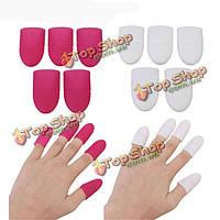 5шт мягкий пластик UV-гель для ногтей удалить впитать от колпачок удобные инструменты для маникюра легко очиститель
