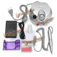 100В-240В электрический ногтей сверлильный станок маникюрный набор инструментов педикюр биты для ногтей резьбы