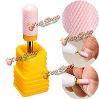 Розовый керамический ногтей сверло шлифовальные головки файл маникюрные инструменты часть педикюра гладкая полировка