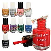 11 цветов 5мл искусства ногтя штамповки ногтей для шаблона печатной марке