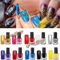 10 цветов профессиональный ногтей тиснения печати картину лак для ногтей маникюр