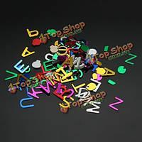 Смешивать-цвета DiY письмо английского алфавита в форме ногтей искусство украшения акриловые Советы блестящие блесток