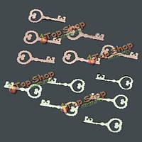 800-1000шт 3D прекрасный ключ в форме психического ногтей стикер украшения DIY Mini дизайн