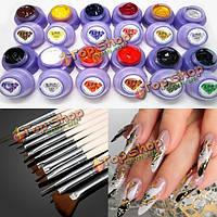 12 цветов фототерапии ногтей гелем 12 рисунок живопись комплект щеток