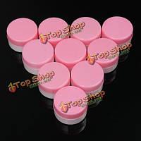 10шт 5g Mini пустой пластиковый горшок косметический хранения баночка крем для лица лосьон тени для век контейнер