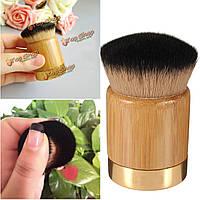 Профессиональный бамбук макияж основа пудра кисти кабуки косметические румяна кистью