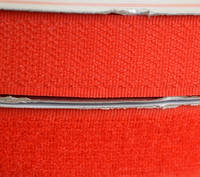 Лента липучка 20 мм.красная №162(25м)(24 компл.в ящ)
