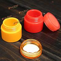 5g пластиковые пустой сосуд горшок косметический крем лосьон бутылка винт крышки контейнера коробки