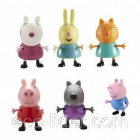 Набор фигурок Peppa - ПЕППА И ЕЕ ДРУЗЬЯ (6 фигурок: Пеппа, Джордж, Ребекка, Сюзи, Кэнди, Дэнни)