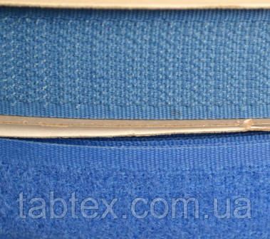 Лента липучка 20 мм. голубой №213 (25 м)(24 компл. в ящ)