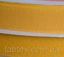 Лента липучка 20 мм.желтая №112(25м)(24 компл.в ящ)