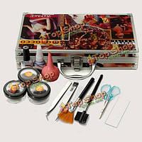 Профессиональное наращивание ресниц комплект макияж глаз ресницы комплект клей клей пинцет для удаления