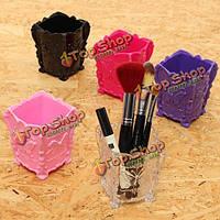 Случай щетки бабочки хранения макияж губ палку ручки организатор держатель декоративные коробки косметический контейнер