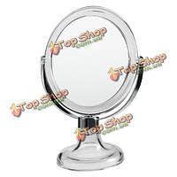 Прозрачный акрил увеличительное зеркало для макияжа организатор вращающийся двухсторонний 3x увеличение настольная подставка из стекла
