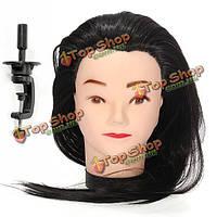 Парикмахерское практика обучения модель головы с 50% реальные человеческие волосы длинные регулируемый держатель зажима