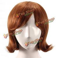 Парик из натуральных волос женский короткий с челкой