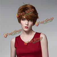 Прямой короткий человеческие волосы парики круто сторона взрыва Remy девственницы моно топ монолитным уникальных 14 цветов
