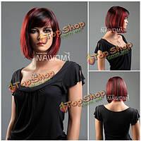 Парик каре красно-черный 100 % канекалон гладкие синтетические волосы Nawomi