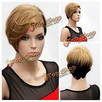 Звездный стиль женщин короткий парик волос блондинка