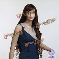 Nawomi элегантный 100 % Kanekalon синтетические волосы парик супер длинные волнистые кудрявые мягкие шапки-коричневый