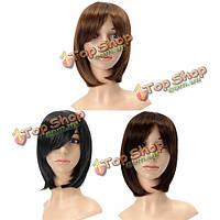 3 цвета Kanekalon волокна парик очаровательный пушистый прямой естественный волос полные парики партии мило косплей