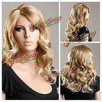 Парик синтетический блондинка волнистые волосы