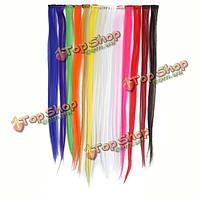 13 популярные цвета прямые волосы удлинитель с зажимом