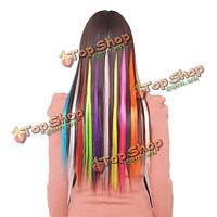 5pc Clear цвет моды прямые волосы расширение планшет кусок волос
