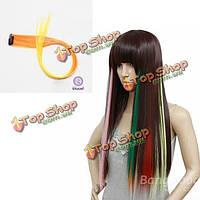 Nawomi 1шт клип в тепловой дружественной условий синтетический наращивание волос волосы кусок желтого ломбер