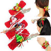 Милые женщины рождества эластичные повязки украшения Xmas аксессуары для волос партия