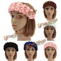 Марочные ручной работы вязание Hairband голову обернуть аксессуары для волос зима осень 5 цветов