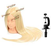 Профессиональный косметология обучение модель головы лицо макияж длинные волосы практика + зажим