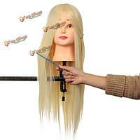 Профессиональный долго парикмахерские манекен практика обучения Глава салон + зажим