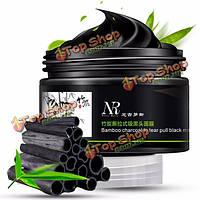NR слезотечение типа удаления угря маски бамбукового древесного угля  чтобы оторвать тянуть черную маску