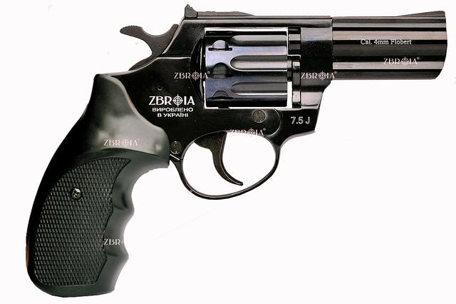 """Револьвер под патрон Флобера  PROFI 3"""" черный пластик"""