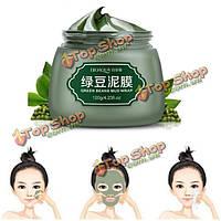 Bioaoua зеленых бобов грязи маска для лица термоусадочная поры лечение акне успокаивают 120г ухода за кожей