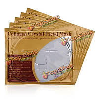 5шт коллаген кристалл маска для лица против старения лица уход за кожей глубоко увлажняющий гладкой отечность отбеливает