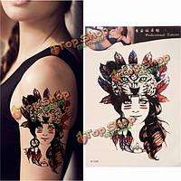 Водонепроницаемый Временные татуировки племенной девушка тела рука нога искусство стикер съемный