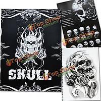 76 страниц различных дизайн череп тату эскиз книги боди-арт принадлежности a4